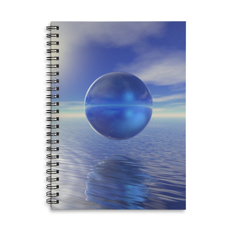Abstract Blue Accessories Notebook by Matthew Lacey-icarusismartdesigns