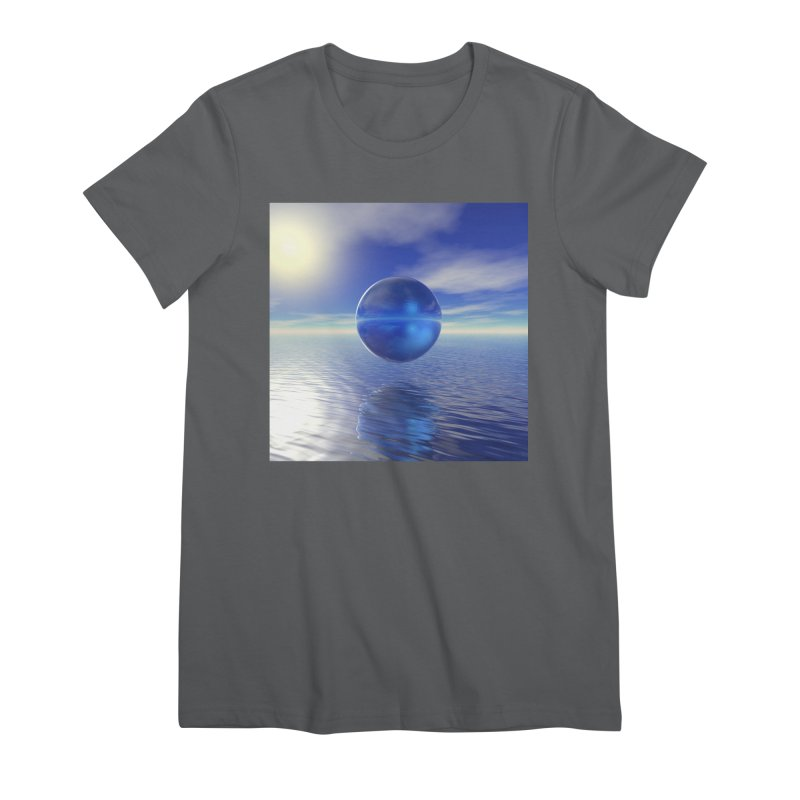 Abstract Blue Women's T-Shirt by Matthew Lacey-icarusismartdesigns