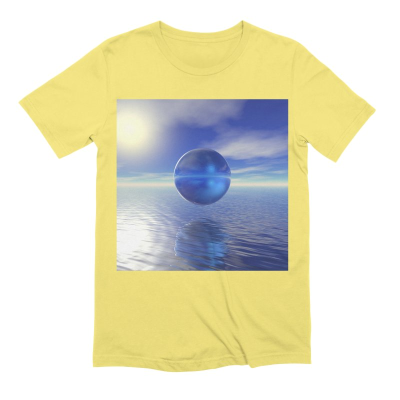 Abstract Blue Men's T-Shirt by Matthew Lacey-icarusismartdesigns