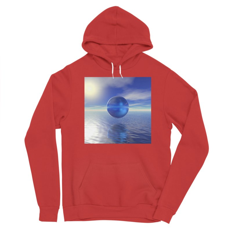 Abstract Blue Women's Pullover Hoody by Matthew Lacey-icarusismartdesigns