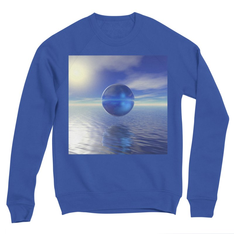 Abstract Blue Men's Sweatshirt by Matthew Lacey-icarusismartdesigns