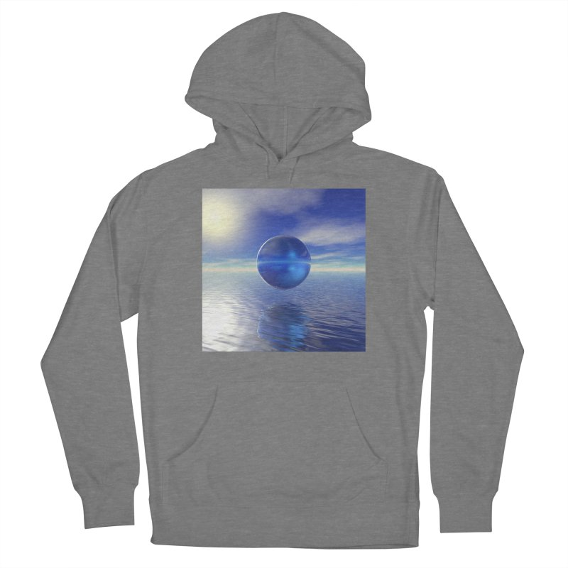 Abstract Blue Men's Pullover Hoody by Matthew Lacey-icarusismartdesigns