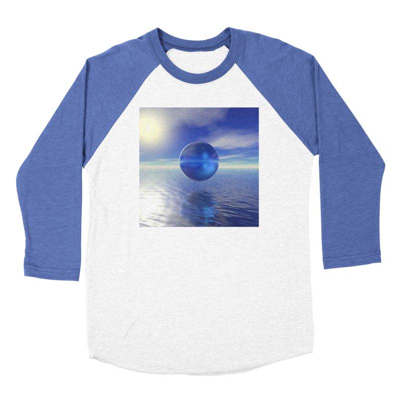 Abstract Blue Women's Longsleeve T-Shirt by Matthew Lacey-icarusismartdesigns