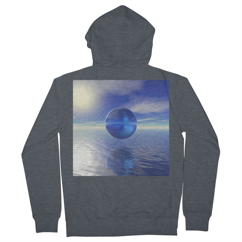 Abstract Blue Women's Zip-Up Hoody by Matthew Lacey-icarusismartdesigns