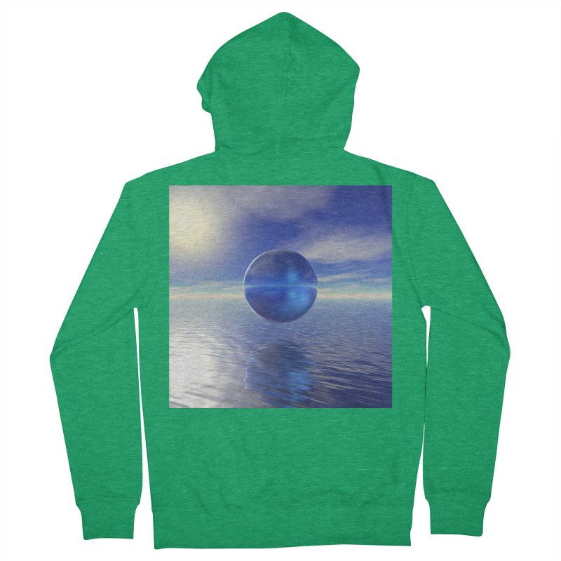 Abstract Blue Men's Zip-Up Hoody by Matthew Lacey-icarusismartdesigns