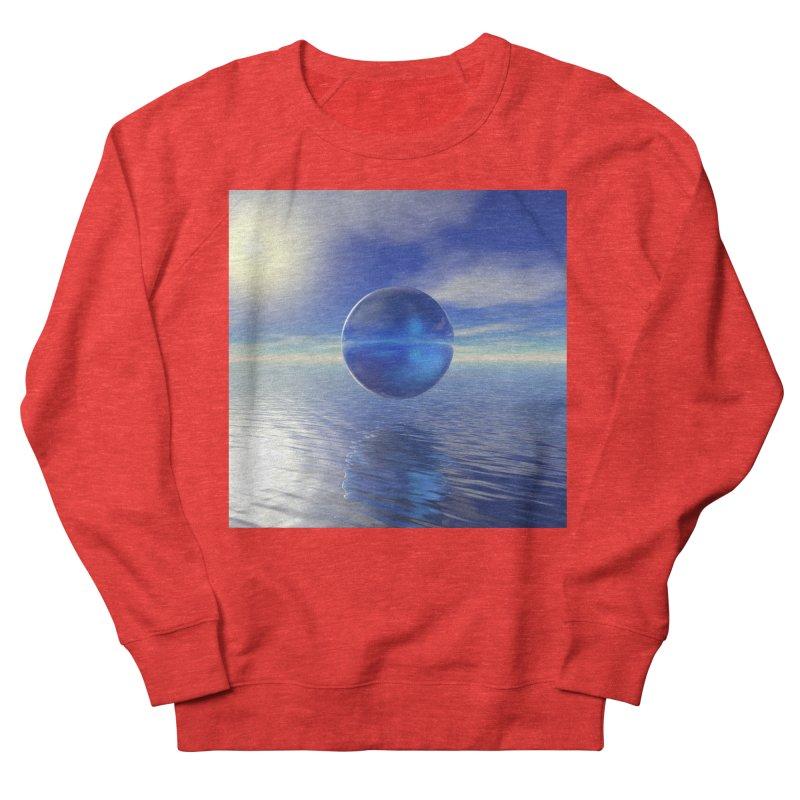 Abstract Blue Women's Sweatshirt by Matthew Lacey-icarusismartdesigns