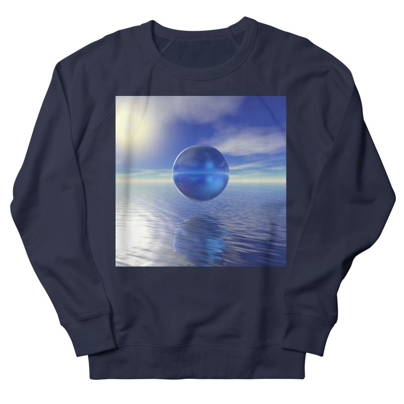 Abstract Blue Women's Sweatshirt by Matthew Lacey-icarusismartdesigns