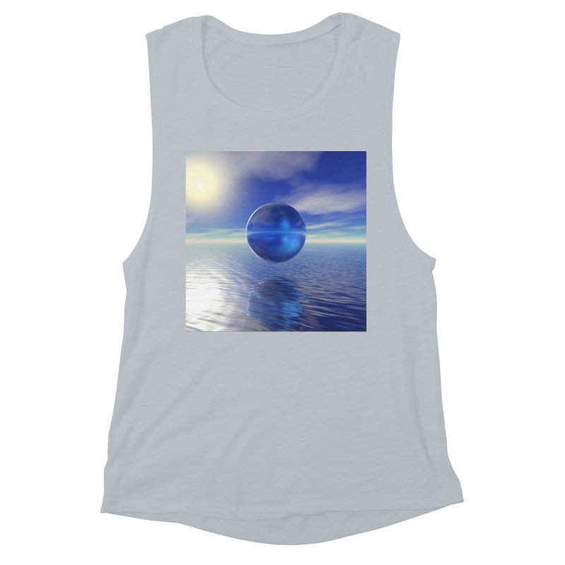 Abstract Blue Women's Tank by Matthew Lacey-icarusismartdesigns
