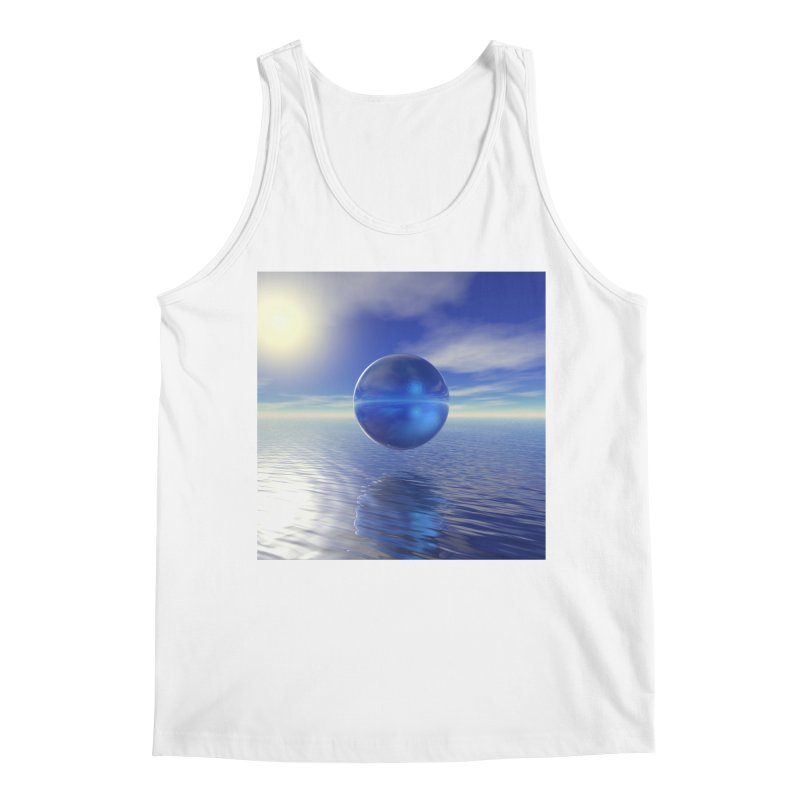 Abstract Blue Men's Tank by Matthew Lacey-icarusismartdesigns