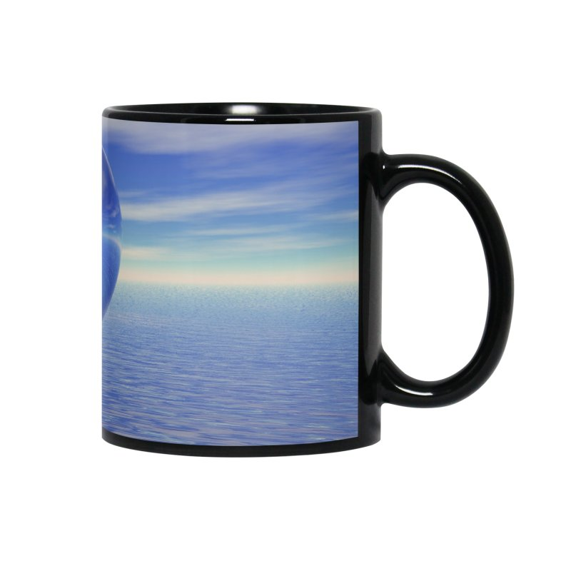 Abstract Blue Accessories Mug by Matthew Lacey-icarusismartdesigns