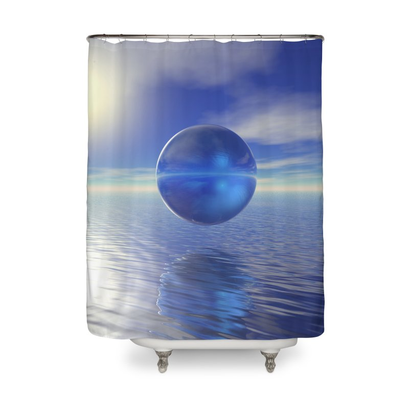 Abstract Blue Home Shower Curtain by Matthew Lacey-icarusismartdesigns