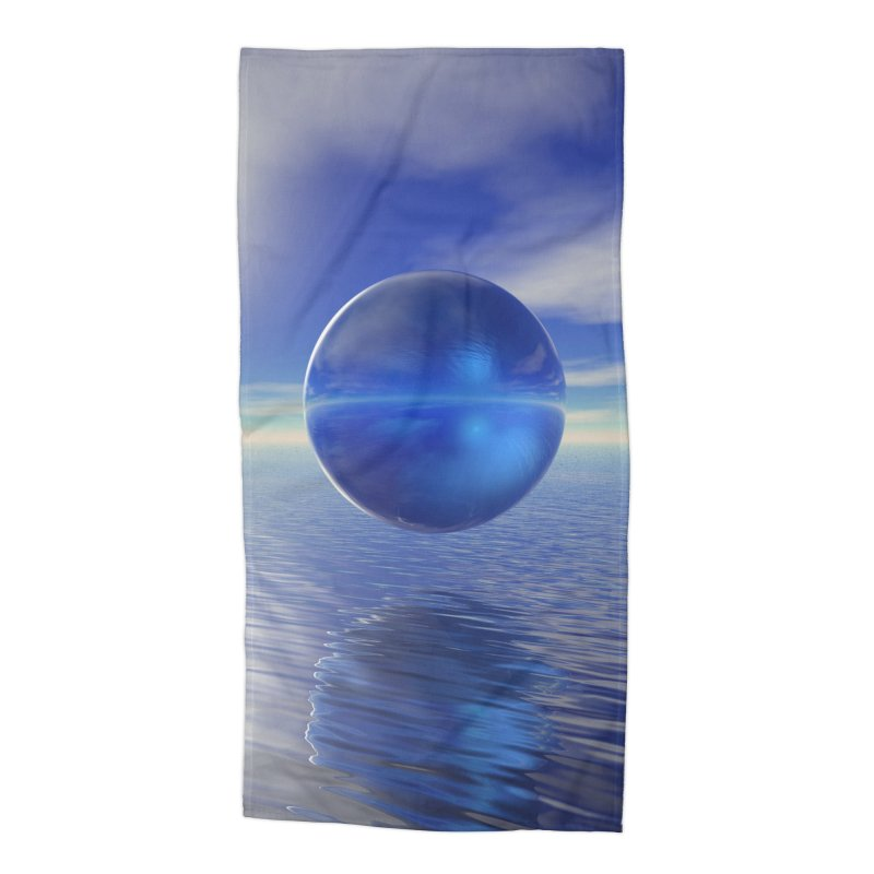 Abstract Blue Accessories Beach Towel by Matthew Lacey-icarusismartdesigns