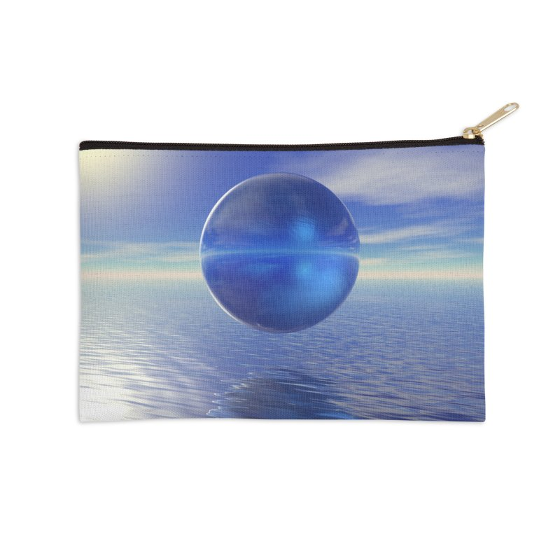 Abstract Blue Accessories Zip Pouch by Matthew Lacey-icarusismartdesigns