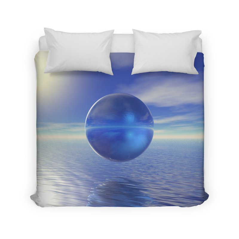 Abstract Blue Home Duvet by Matthew Lacey-icarusismartdesigns