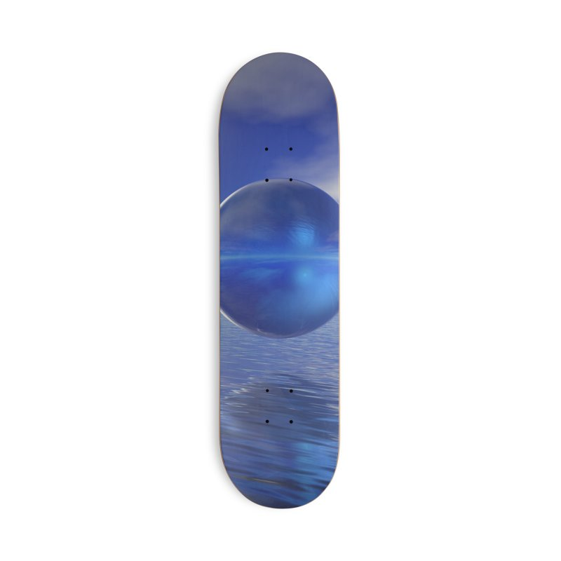 Abstract Blue Accessories Skateboard by Matthew Lacey-icarusismartdesigns
