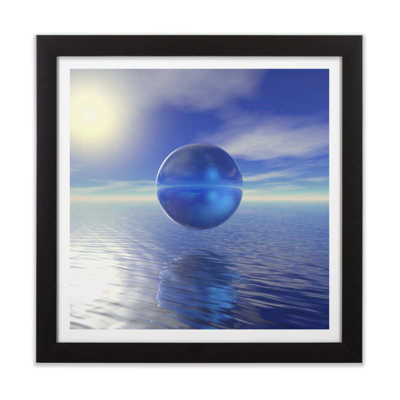 Abstract Blue Home Framed Fine Art Print by Matthew Lacey-icarusismartdesigns