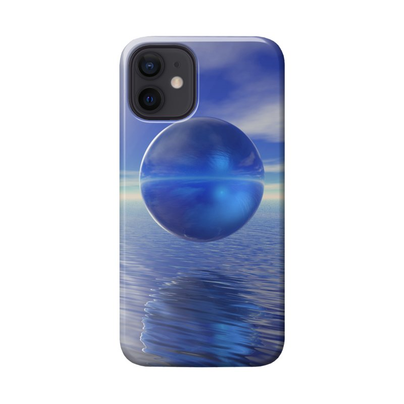 Abstract Blue Accessories Phone Case by Matthew Lacey-icarusismartdesigns
