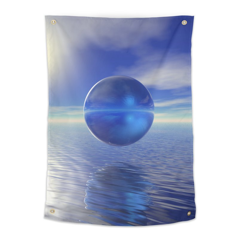 Abstract Blue Home Tapestry by Matthew Lacey-icarusismartdesigns
