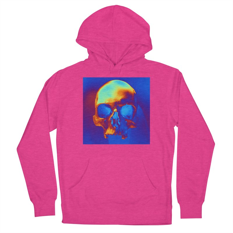 Skull in Blue and Gold Women's Pullover Hoody by Matthew Lacey-icarusismartdesigns