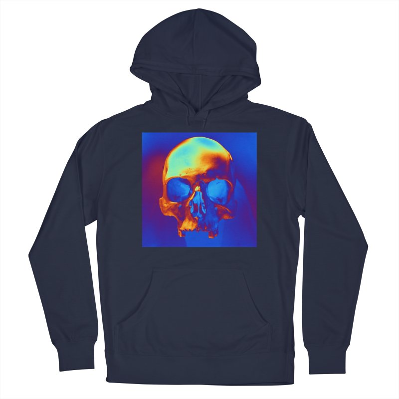 Skull in Blue and Gold Men's Pullover Hoody by Matthew Lacey-icarusismartdesigns
