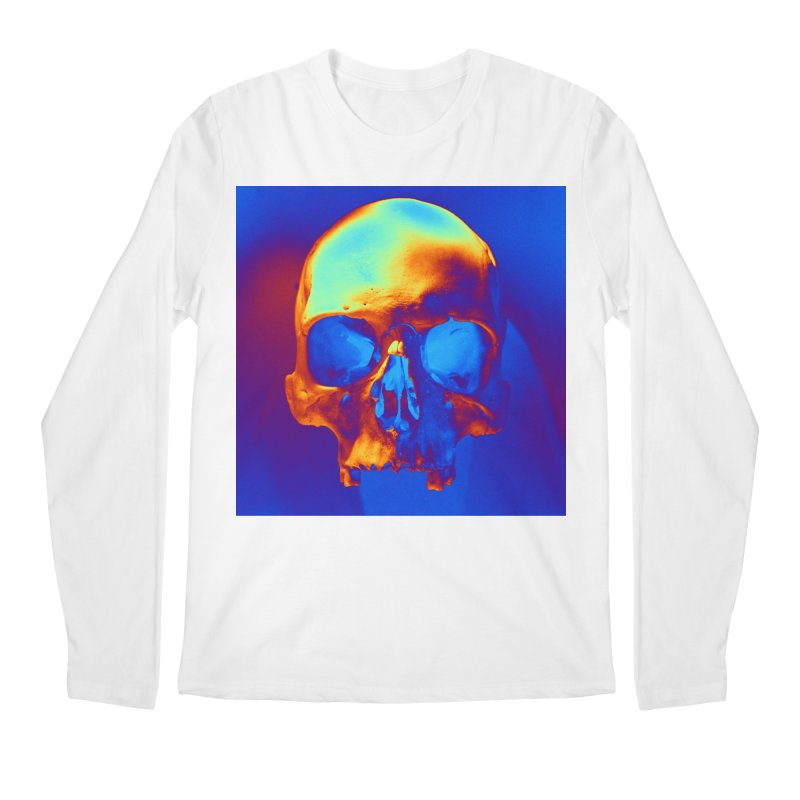 Skull in Blue and Gold Men's Longsleeve T-Shirt by Matthew Lacey-icarusismartdesigns