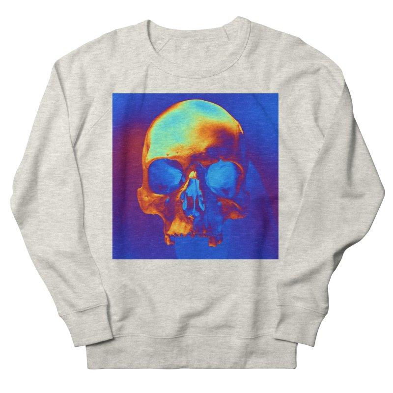 Skull in Blue and Gold Women's Sweatshirt by Matthew Lacey-icarusismartdesigns