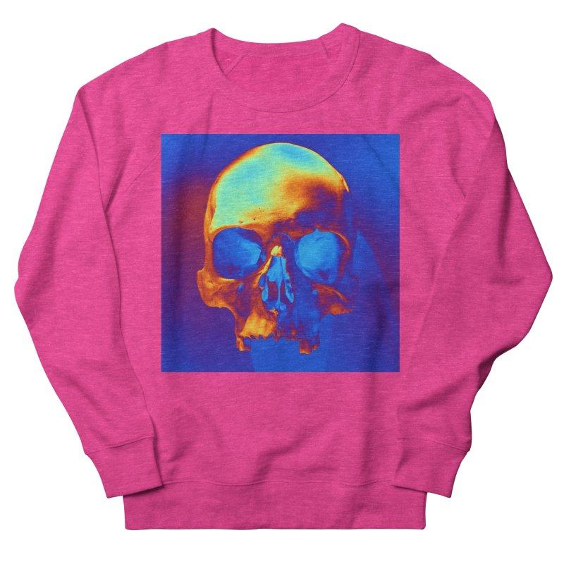 Skull in Blue and Gold Men's Sweatshirt by Matthew Lacey-icarusismartdesigns