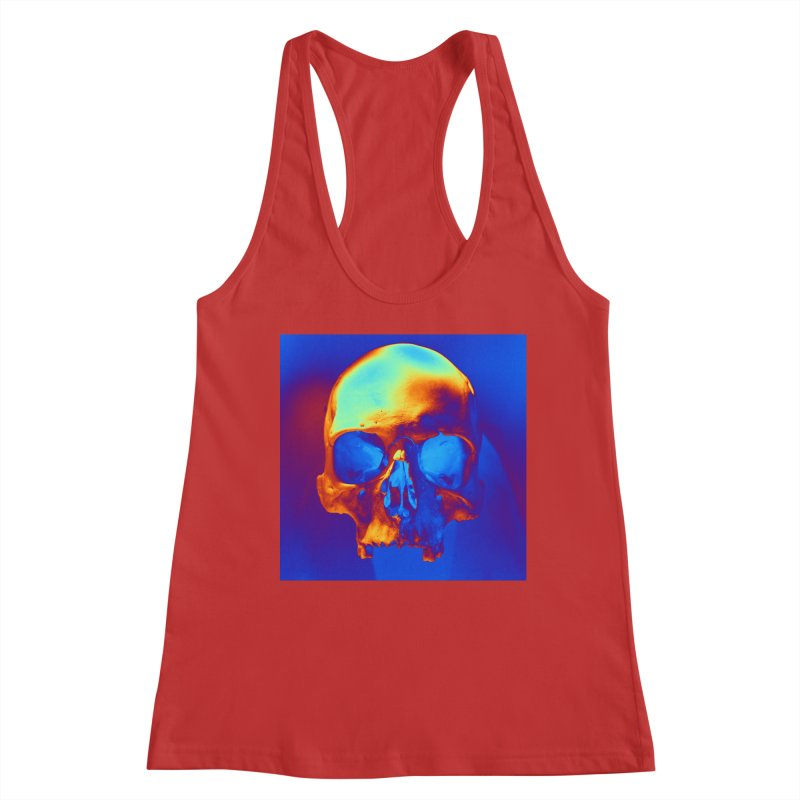 Skull in Blue and Gold Women's Tank by Matthew Lacey-icarusismartdesigns