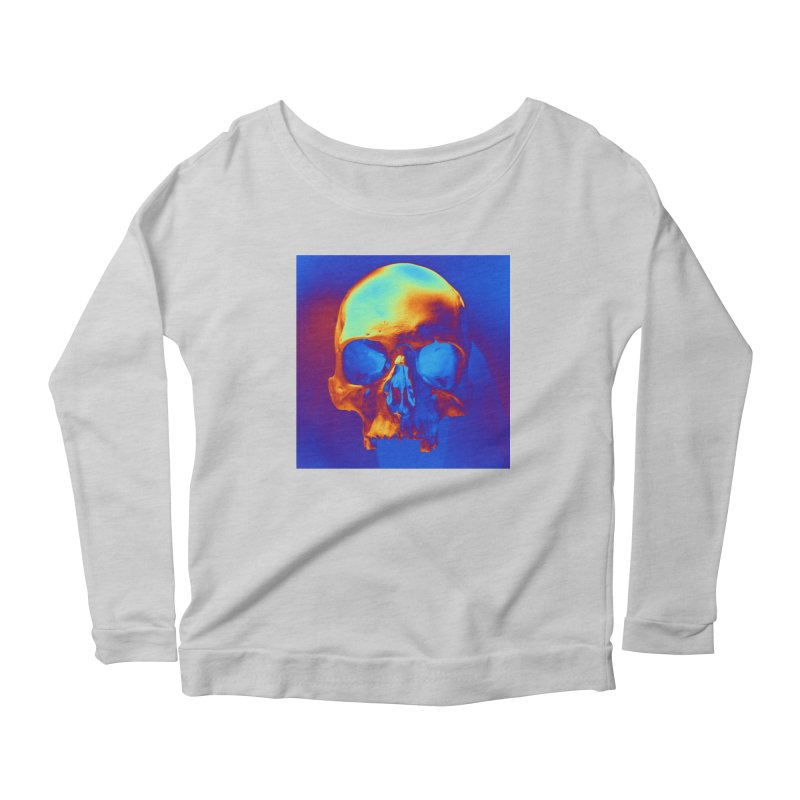 Skull in Blue and Gold Women's Longsleeve T-Shirt by Matthew Lacey-icarusismartdesigns