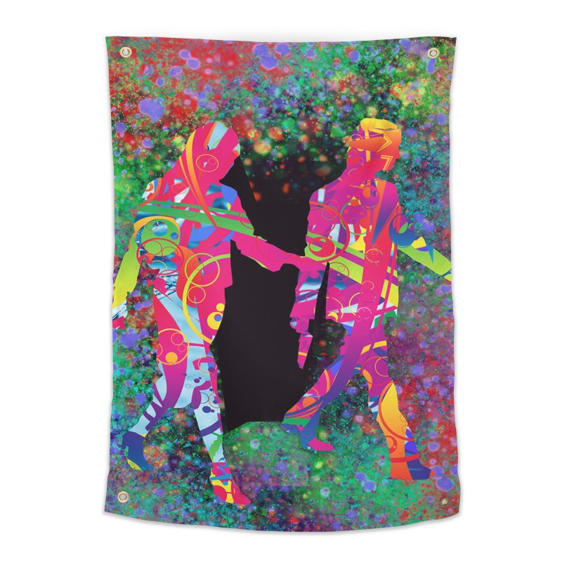 Strange Days Home Tapestry by Matthew Lacey-icarusismartdesigns