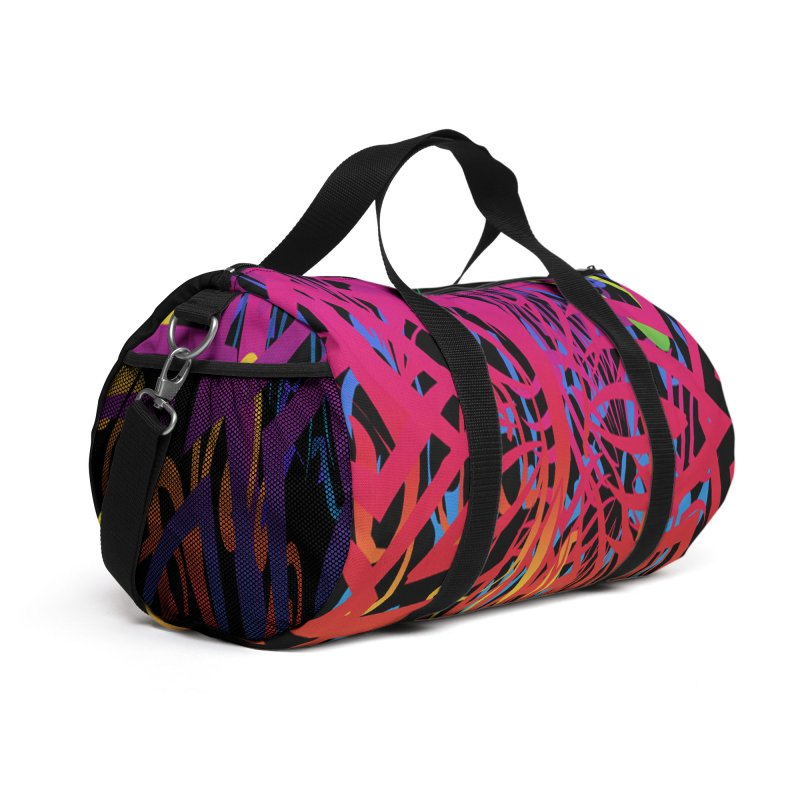 Abstract Jungle Accessories Bag by Matthew Lacey-icarusismartdesigns