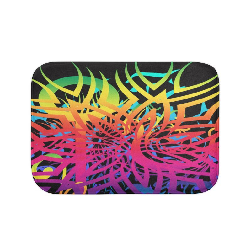 Abstract Jungle Home Bath Mat by Matthew Lacey-icarusismartdesigns