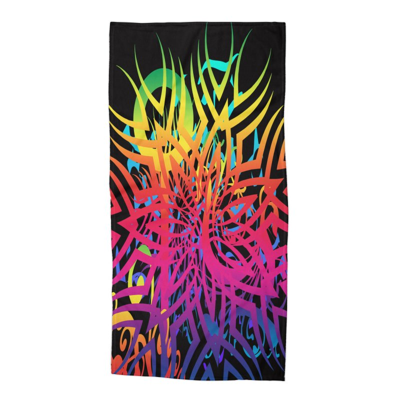 Abstract Jungle Accessories Beach Towel by Matthew Lacey-icarusismartdesigns
