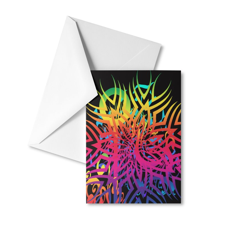 Abstract Jungle Accessories Greeting Card by Matthew Lacey-icarusismartdesigns