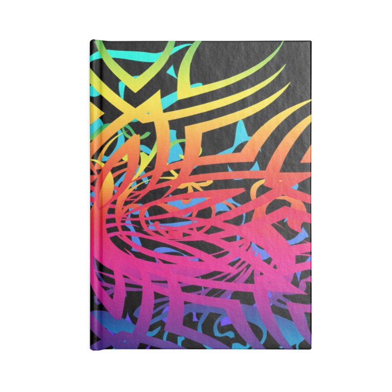 Abstract Jungle Accessories Notebook by Matthew Lacey-icarusismartdesigns