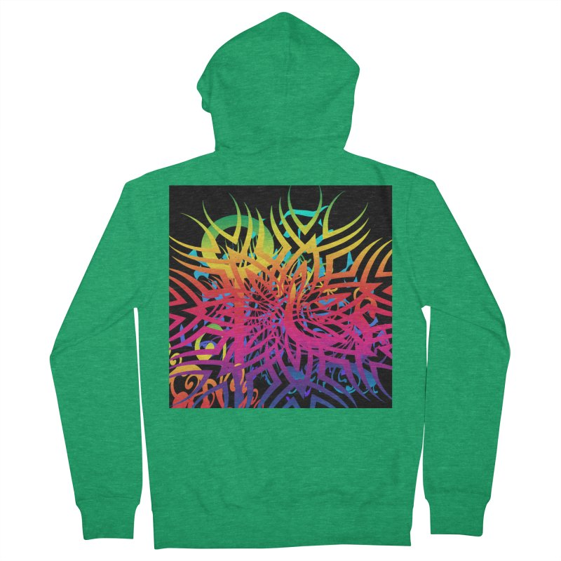 Abstract Jungle Women's Zip-Up Hoody by Matthew Lacey-icarusismartdesigns