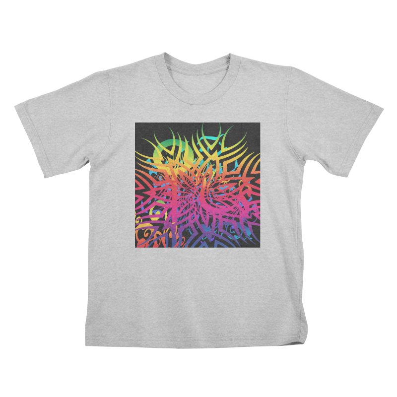 Abstract Jungle Kids T-Shirt by Matthew Lacey-icarusismartdesigns