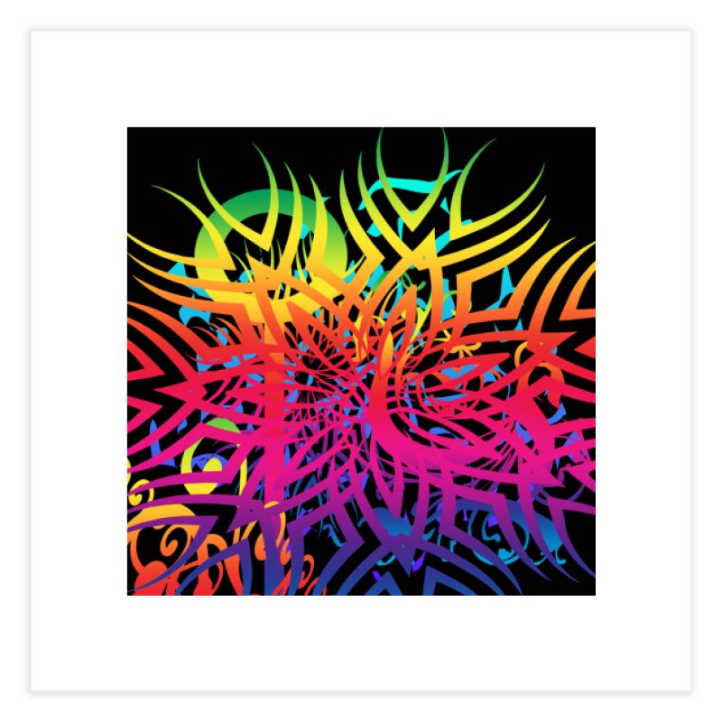 Abstract Jungle Home Fine Art Print by Matthew Lacey-icarusismartdesigns