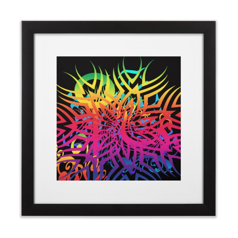 Abstract Jungle Home Framed Fine Art Print by Matthew Lacey-icarusismartdesigns