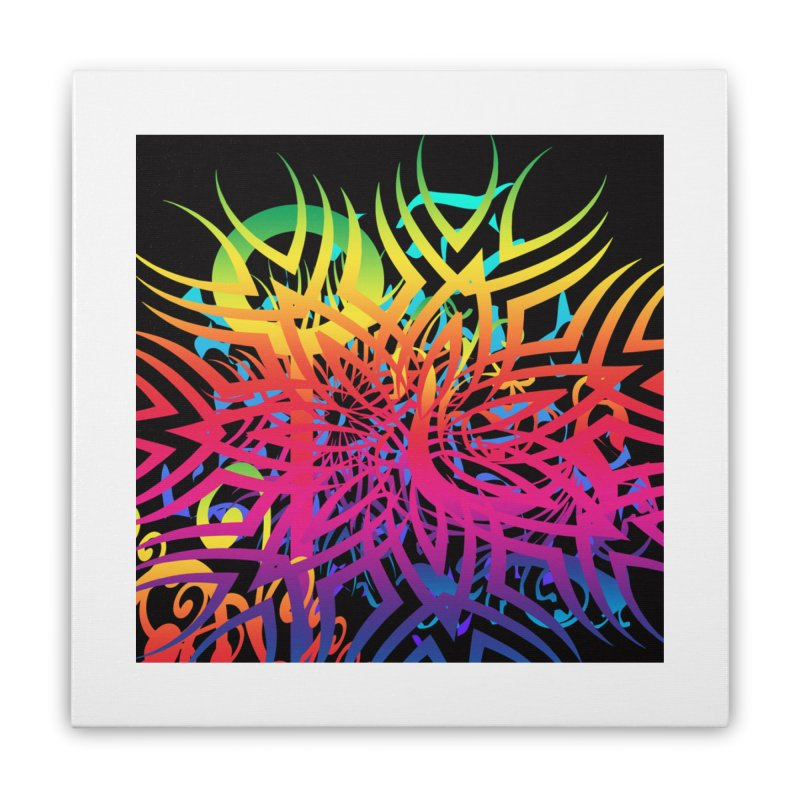 Abstract Jungle Home Stretched Canvas by Matthew Lacey-icarusismartdesigns