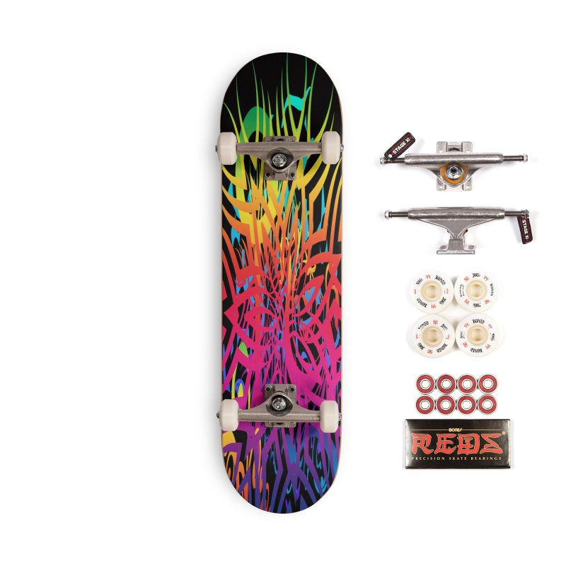 Abstract Jungle Accessories Skateboard by Matthew Lacey-icarusismartdesigns