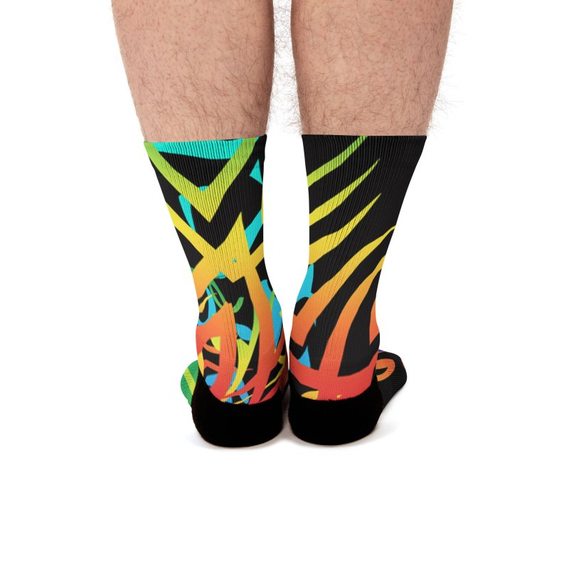Abstract Jungle Men's Socks by Matthew Lacey-icarusismartdesigns