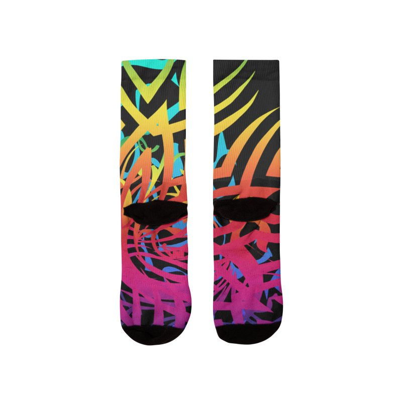 Abstract Jungle Women's Socks by Matthew Lacey-icarusismartdesigns