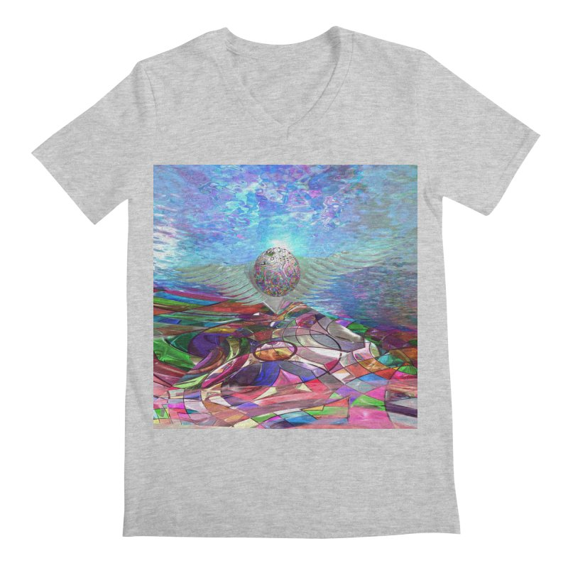 Icarus Rising Men's V-Neck by Matthew Lacey-icarusismartdesigns