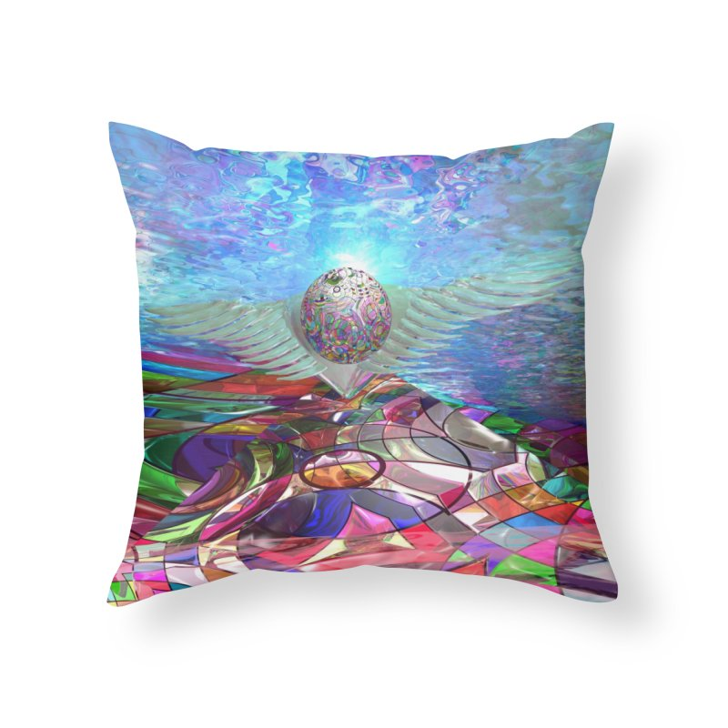 Icarus Rising Home Throw Pillow by Matthew Lacey-icarusismartdesigns