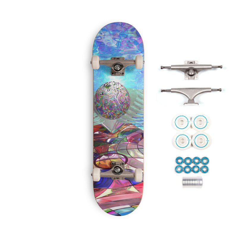 Icarus Rising Accessories Skateboard by Matthew Lacey-icarusismartdesigns