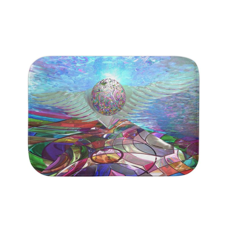 Icarus Rising Home Bath Mat by Matthew Lacey-icarusismartdesigns