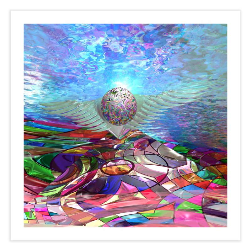 Icarus Rising Home Fine Art Print by Matthew Lacey-icarusismartdesigns