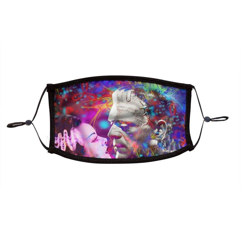 Frankenstein`s Bride Accessories Face Mask by Matthew Lacey-icarusismartdesigns