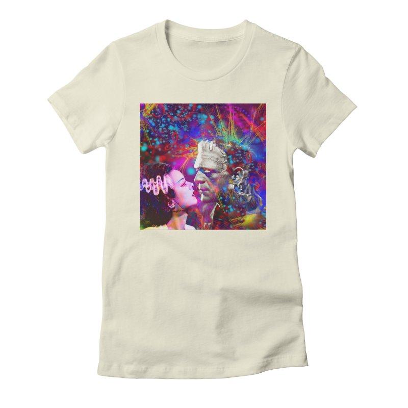 Frankenstein`s Bride Women's T-Shirt by Matthew Lacey-icarusismartdesigns